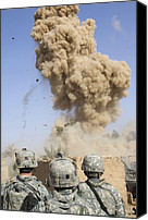 Second Gulf War Canvas Prints - Us Soldiers Destroy An Insurgent Canvas Print by Everett