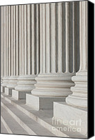 Washington Dc Canvas Prints - US Supreme Court Building I Canvas Print by Clarence Holmes