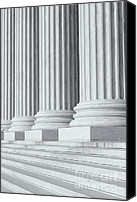 Architectural Detail Canvas Prints - US Supreme Court Building IV Canvas Print by Clarence Holmes