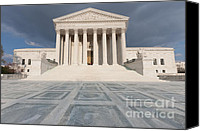 Washington Dc Canvas Prints - US Supreme Court Building VII Canvas Print by Clarence Holmes