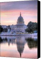 Fourth Of July Photo Canvas Prints - USA Today Canvas Print by JC Findley