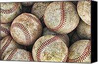 Baseball Canvas Prints - Used Baseballs Canvas Print by Wade Aiken