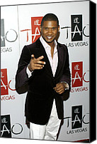 James Atoa Canvas Prints - Usher At Arrivals For Tao New Years Eve Canvas Print by Everett