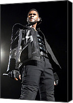 Half-length Canvas Prints - Usher On Stage For Usher In The Omg Canvas Print by Everett