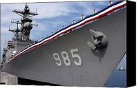 Warship Canvas Prints - Uss Cushing Is Decommissioned Canvas Print by Stocktrek Images