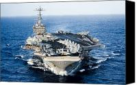 Ocean Photography Canvas Prints - Uss John C. Stennis Transits Canvas Print by Stocktrek Images