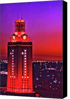 Austin Skyline Canvas Prints - UT Tower Number One Canvas Print by Gary Dow