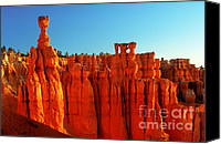 Bryce Canyon Canvas Prints - Utah - Thors Hammer 3 Canvas Print by Terry Elniski