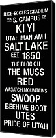 Salt Lake Canvas Prints - Utah College Town Wall Art Canvas Print by Replay Photos