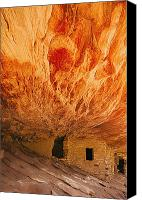 Indian Ruins Canvas Prints - Utah, United States Of America The Canvas Print by Philippe Widling