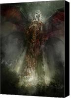 Angel Canvas Prints - Utherworlds The Clouding Canvas Print by Philip Straub