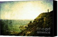 Lighthouse Pyrography Canvas Prints - Utopia Canvas Print by Andrew Paranavitana