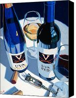 Cakebread Canvas Prints - UVA Red and White Number One Canvas Print by Christopher Mize