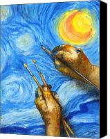 Starry Painting Canvas Prints - V is for Van Gogh... Canvas Print by Will Bullas