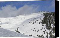 Snowboard Canvas Prints - Vail Resort - Colorado - Blue Sky Basin Canvas Print by Brendan Reals