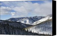 Colorado Mountains Canvas Prints - Vail Valley from Ski Slopes Canvas Print by Brendan Reals
