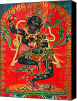 Tibetan Buddhism Canvas Prints - Vajrayogini 6 Canvas Print by Lanjee Chee