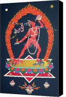 Tantrayana Canvas Prints - Vajrayogini Canvas Print by Carmen Mensink