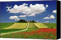 Tuscany Canvas Prints - Val Dorcia In Clouds Canvas Print by Massimiliano Natale