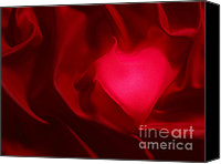 Valentines Day Canvas Prints - Valentine Heart Canvas Print by Tony Cordoza