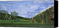 Valle Crucis Canvas Prints - Valle Crucis 1 View from Herb Thomas Road Canvas Print by Micah Mullen