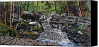 Valle Crucis Canvas Prints - Valle Crucis 2 -  Waterfalls near Conference Center Canvas Print by Micah Mullen