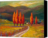 Marion Rose Canvas Prints - Valley Farm Canvas Print by Marion Rose