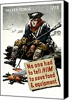 Minutemen Canvas Prints - Valley Forge Soldier Conservation Propaganda Canvas Print by War Is Hell Store