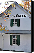 Chestnut Hill Canvas Prints - Valley Green Inn - Side View Canvas Print by Bill Cannon