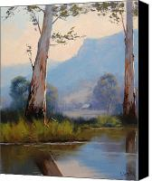 Graham Gercken Canvas Prints - Valley Gums Canvas Print by Graham Gercken