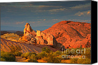 Twilight Canvas Prints - Valley of Fire - Picturesque desert Canvas Print by Christine Till