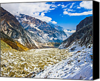 Tibetan Canvas Prints - Valley Of Glacier, Hailuogou, Sichuan China Canvas Print by Feng Wei Photography