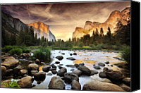  Yosemite Canvas Prints - Valley Of Gods Canvas Print by John B. Mueller Photography