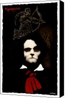 Vampire Canvas Prints - Vampyre... Canvas Print by Will Bullas