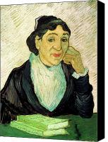 Vincent Van Gogh Canvas Prints - Van Gogh Madame Ginoux LArlesienne Canvas Print by Vincent Van Gogh