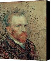 Vincent Van Gogh Canvas Prints - Van Gogh Self Portrait Canvas Print by Vincent Van Gogh