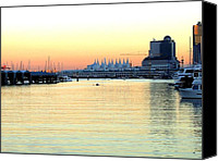 Rowers Canvas Prints - Vancouver Harbor At Sundown Canvas Print by Will Borden