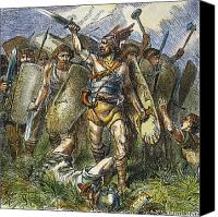 Barbarian Canvas Prints - Vandal Invasion Of Rome Canvas Print by Granger