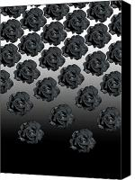 Black Rose Canvas Prints - Varas Rose 25 Canvas Print by Per Lidvall