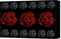 Black Rose Canvas Prints - Varas Rose 32 Canvas Print by Per Lidvall