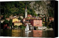 Lago Di Como Canvas Prints - Varenna Approach Canvas Print by Chuck Parsons