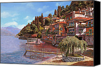 Water Canvas Prints - Varenna on Lake Como Canvas Print by Guido Borelli