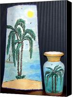 Beaches Ceramics Canvas Prints - Varies Canvas Print by Hn Wd