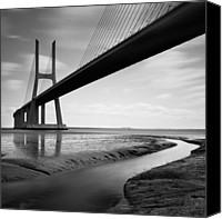 Nina Photo Canvas Prints - Vasco da Gama Bridge IV Canvas Print by Nina Papiorek