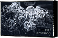 Floral Photo Canvas Prints - Vase of Flowers 2 Canvas Print by Madeline Ellis