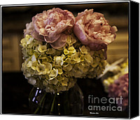 Floral Photo Canvas Prints - Vase of Flowers Canvas Print by Madeline Ellis