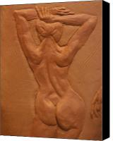 Nudes Ceramics Canvas Prints - Vase series IV Canvas Print by Dan Earle