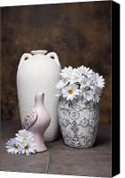 Dove Canvas Prints - Vases with Daisies II Canvas Print by Tom Mc Nemar