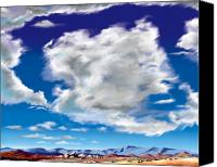 Desert Southwest Canvas Prints - Vasquez Cloud Canvas Print by Steve Beaumont