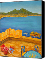 Pamela Allegretto-franz Canvas Prints - Veduta di Vesuvio Canvas Print by Pamela Allegretto